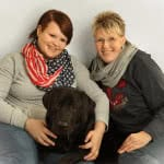 Damen + Hund